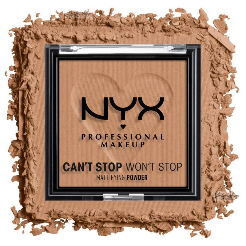 NYX Professional Makeup - CAN''T STOP WON''T STOP - Mattifying Powder - Matujący puder do twarzy - 6 g - CARAMEL