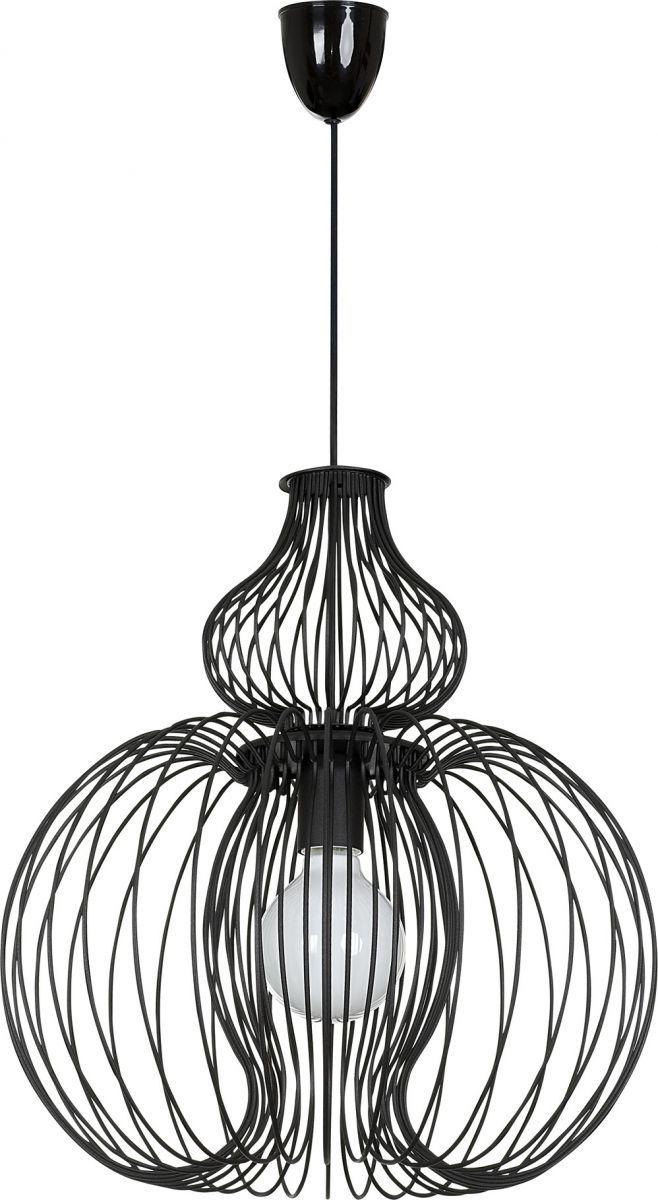 Lampa wisząca Meknes 5298 Nowodvorski Lighting czarna elegancka oprawa w dekoracyjnym stylu