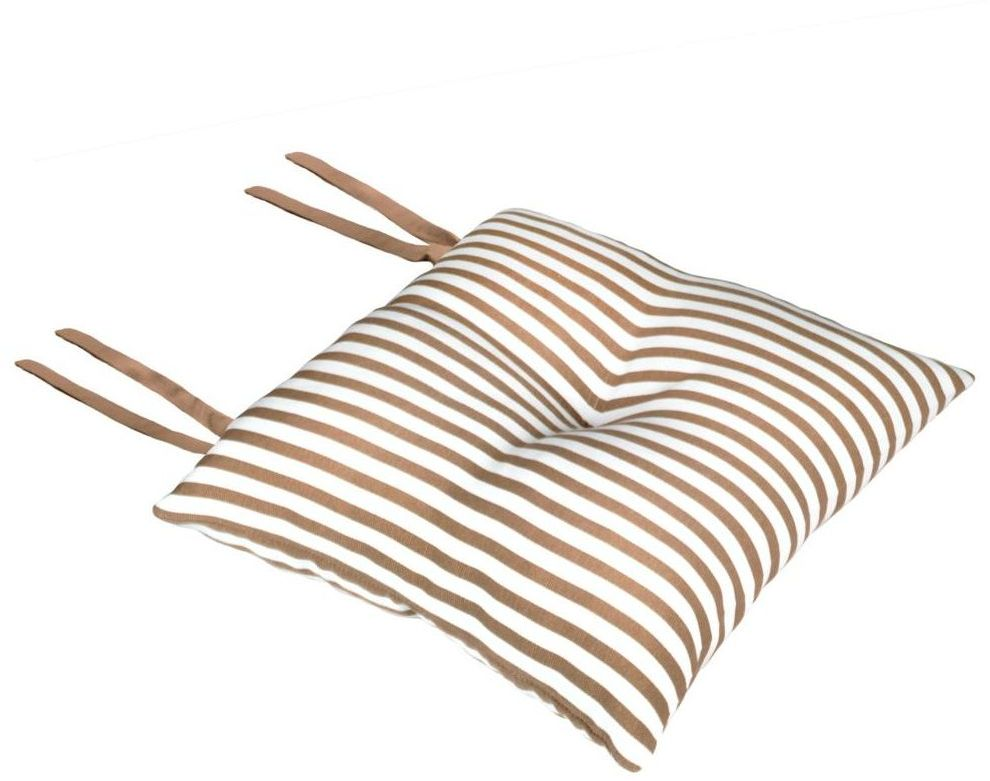 Poduszka na krzesło Silla Paski beżowa 40 x 40 x 8 cm