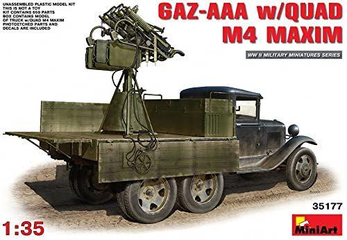 "Miniart Skala 1:35 ""GAZ-AAA w/ Quad M-4 Maxim"" zestaw plastikowy model"