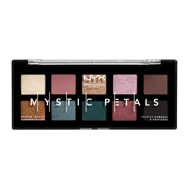 NYX Professional Makeup - MYSTIC PETALS - SHADOW PALETTE - Paleta 10 cieni do powiek - DARK MYSTIC