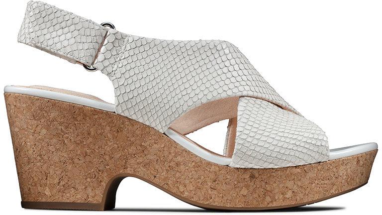 Sandały damskie Clarks Maritsa Lara białe261479364