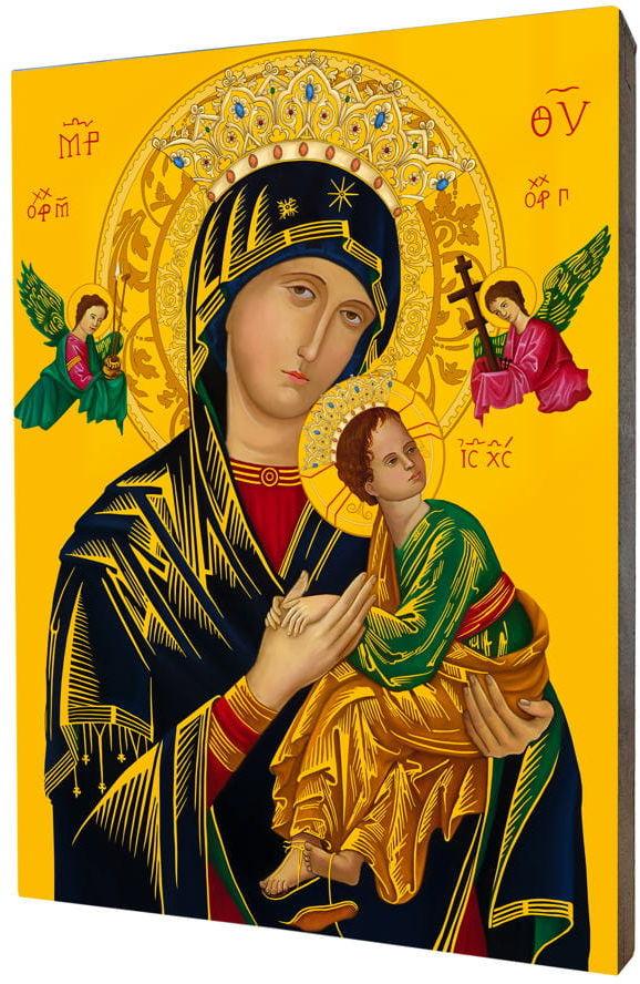 Obraz na desce lipowej, Matka Boża Nieustającej Pomocy