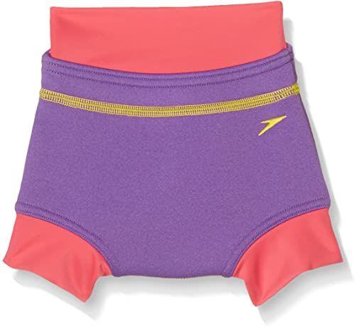 Speedo Pokrycie pieluszki do pływania pieluszki do pływania, fioletowe wypełnienie z deszczu/maliny, rozmiar 9-12