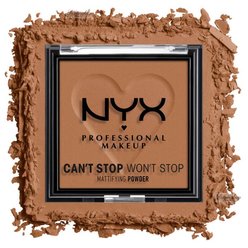 NYX Professional Makeup - CAN''T STOP WON''T STOP - Mattifying Powder - Matujący puder do twarzy - 6 g - MOCHA