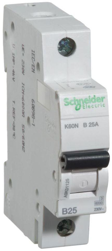 Wyłącznik nadprądowy K60N - B25 - 1 25 A SCHNEIDER ELECTRIC