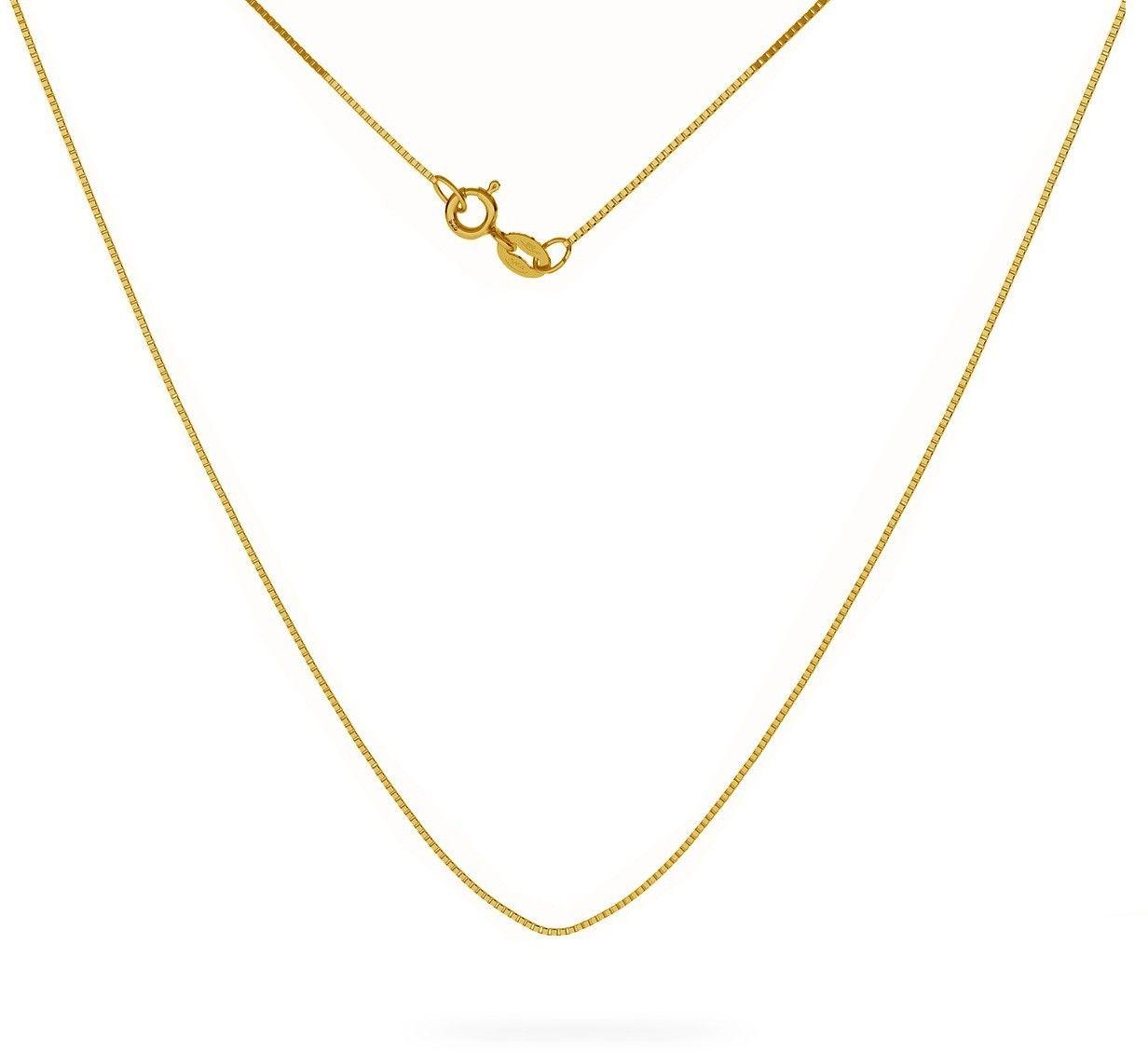 Srebrny łańcuszek kostka diamentowana, srebro 925 : Długość (cm) - 50, Srebro - kolor pokrycia - Pokrycie żółtym 18K złotem