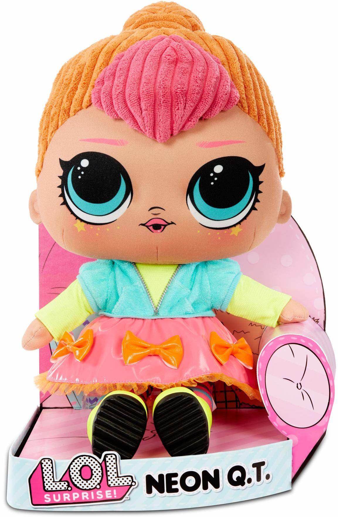 L.O.L. Surprise! Neon Q.T.  przytulna, miękka pluszowa lalka