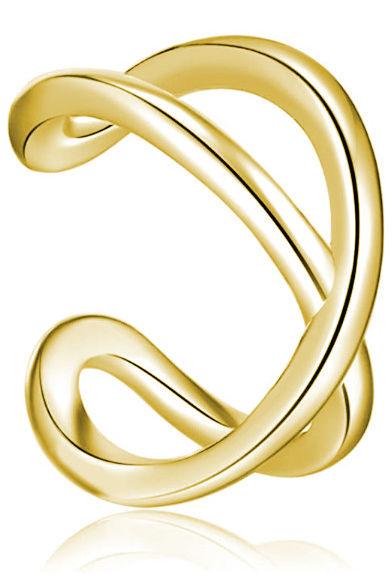 Delikatna pozłacana srebrna nausznica nieskończoność infinity kolczyk na małżowinę ear cuff srebro 925 Z1879EG