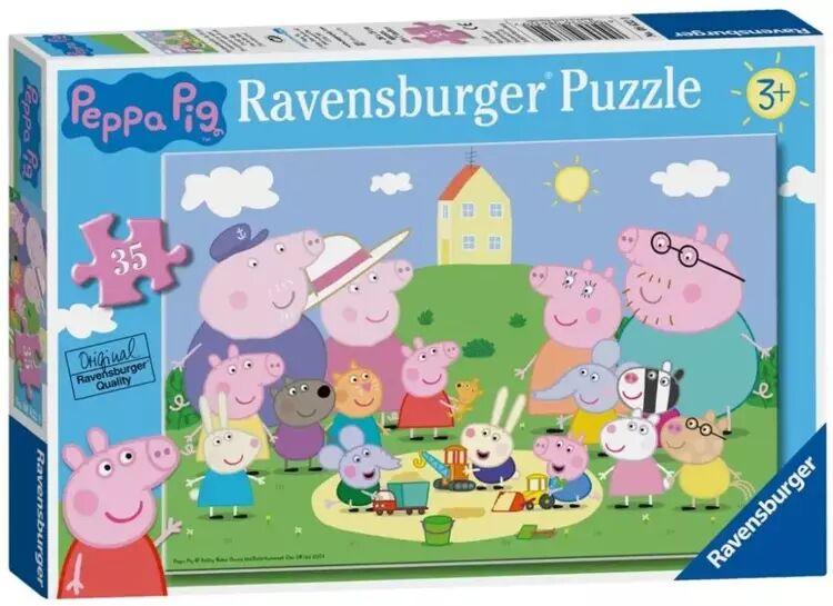 Puzzle 35 Świnka Peppa. Piknik - Ravensburger