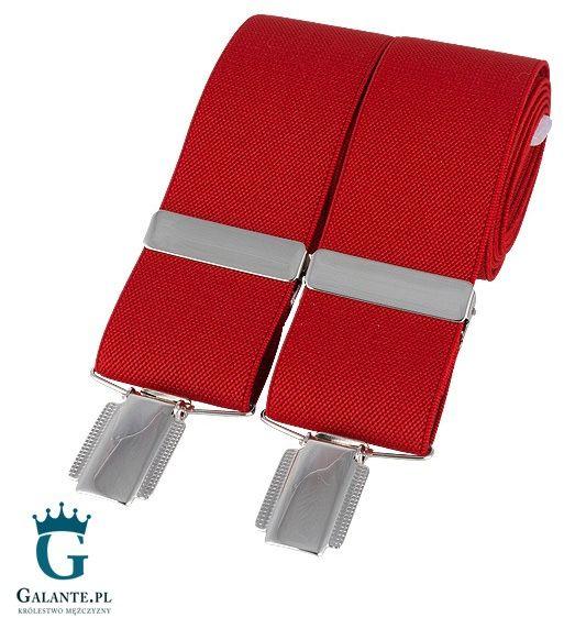 Szelki do spodni czerwone br-005