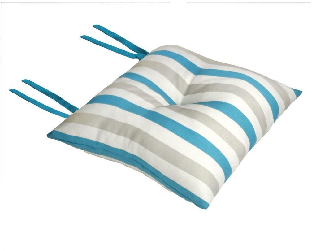 Poduszka na krzesło Silla Pasy turkusowa 40 x 40 x 8 cm