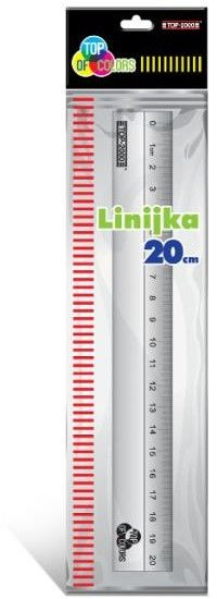 Linijka aluminiowa TOP-2000 - 20 cm