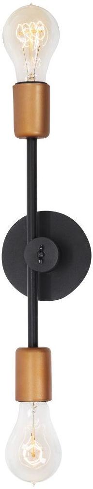Kinkiet Sticks 6267 Nowodvorski Lighting podwójna oprawa ścienna w kolorze czarno-miedzianym