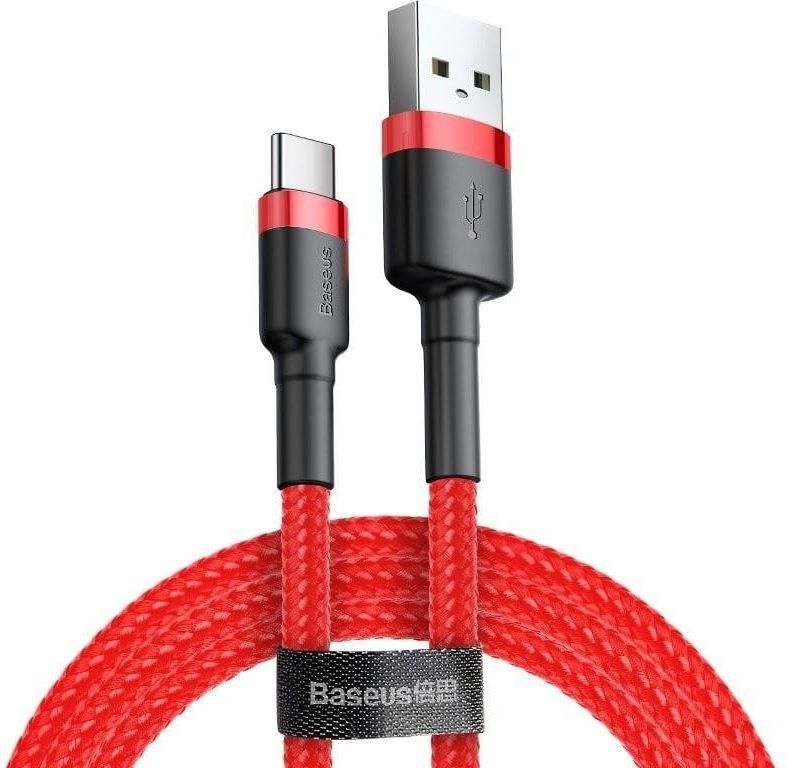 Kabel USB-C Baseus Cafule 2A 3m (czerwony)
