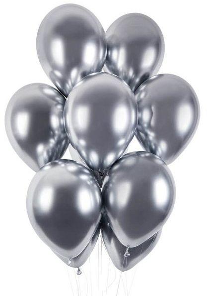 Balony shiny 13 cali srebrne 5 sztuk 7561