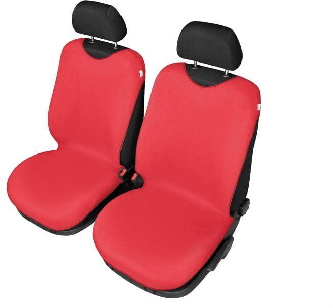 Pokrowce koszulki SHIRT COTTON na przednie fotele, czerwone