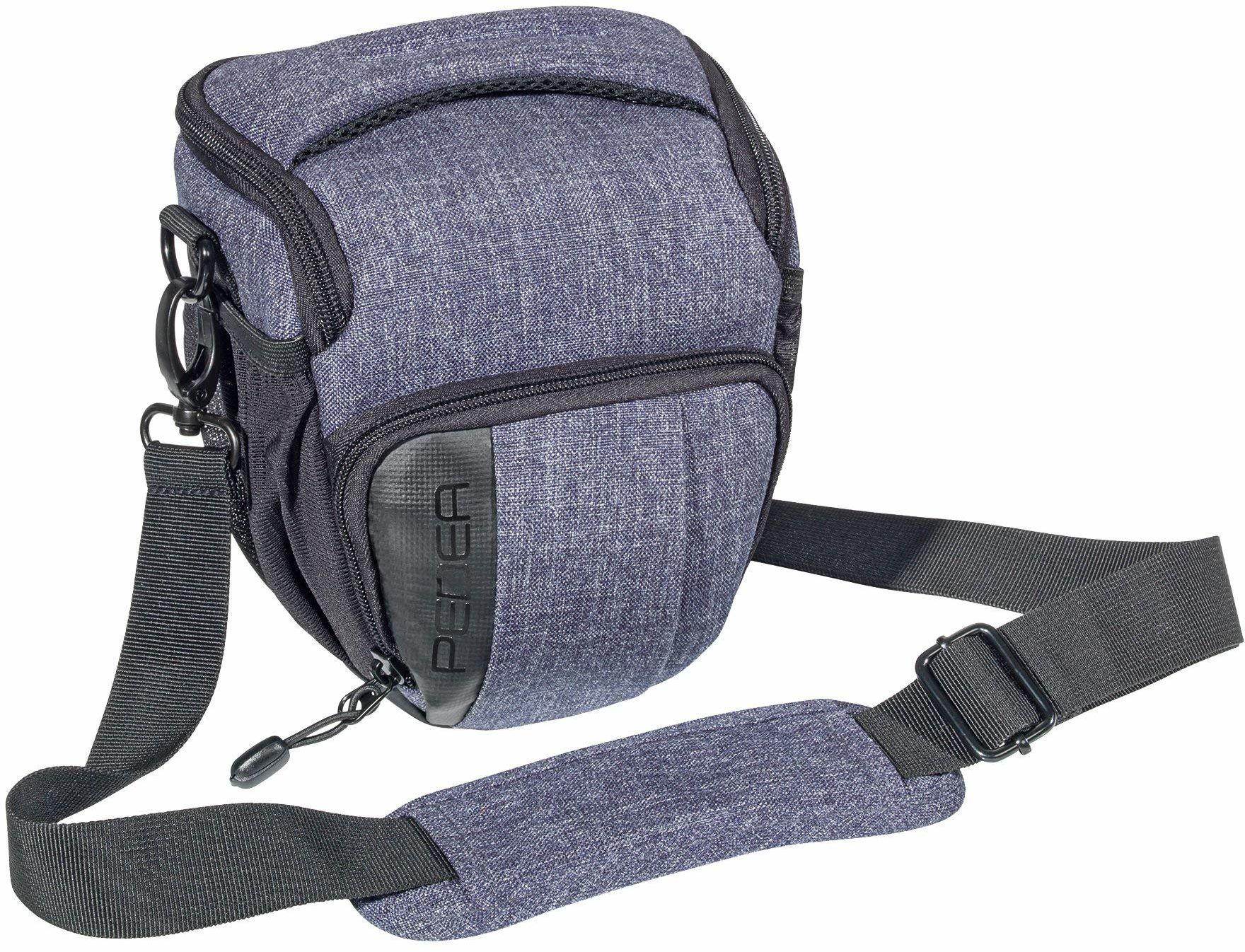 """PEDEA DSLR torba na aparat """"Fashion"""" z folią ochronną na wyświetlacz do Nikon D500 D750 D3500 D5200 D300 Coolpix B500 / Sony Alpha 7 7M2 7M3 7R II DSC-RX10 / Canon EOS 77D 200D 1300D, rozmiar M szary"""