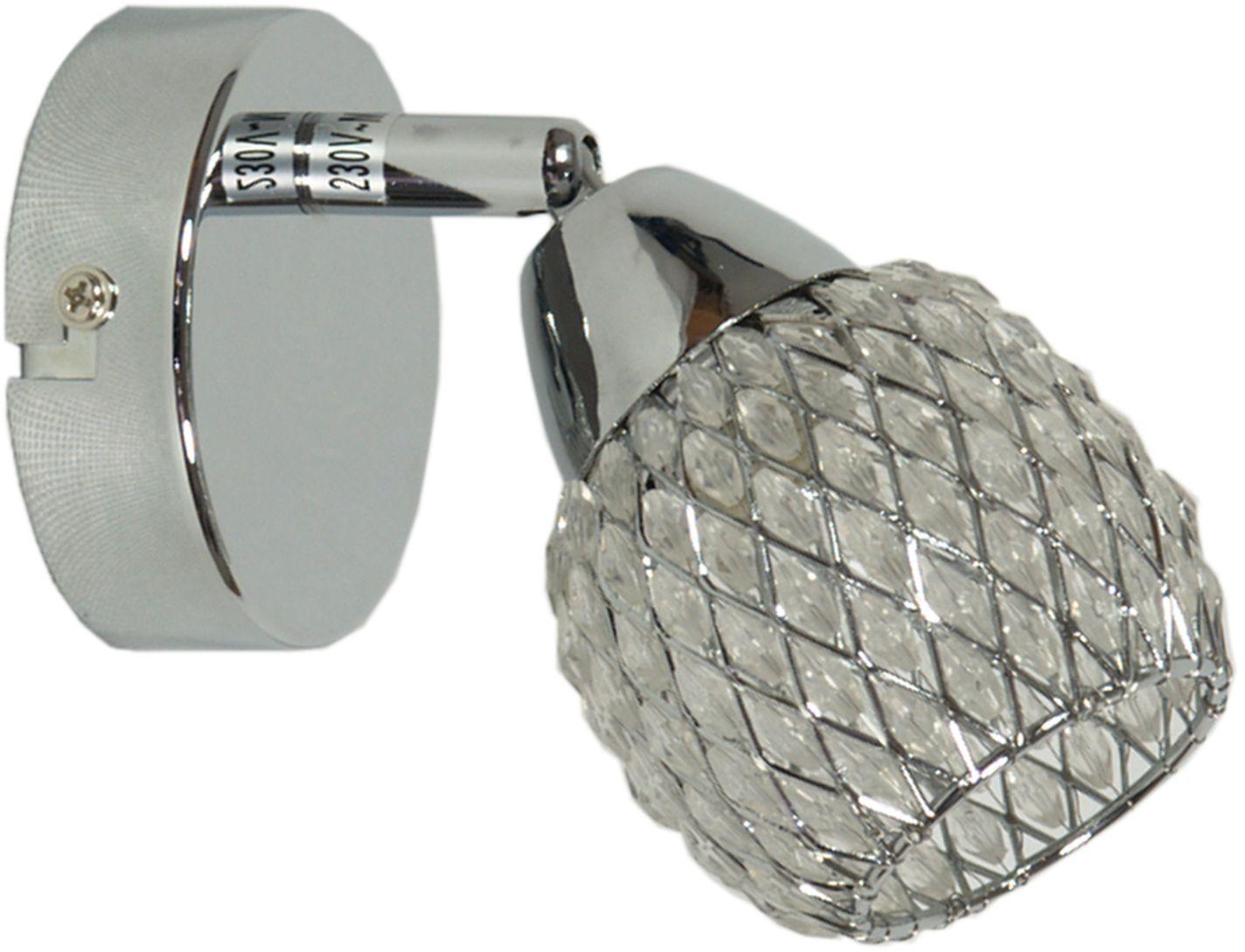 Candellux CLEAR 91-06868 kinkiet lampa ścienna chrom kryształki 1X40W G9 8cm
