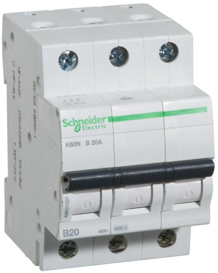 Wyłącznik nadprądowy K60N - B20 - 3 20 A SCHNEIDER ELECTRIC