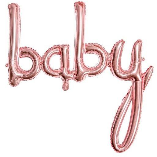 Balon foliowy Baby różowe złoto 73x75cm 1 sztuka FB42M-019R