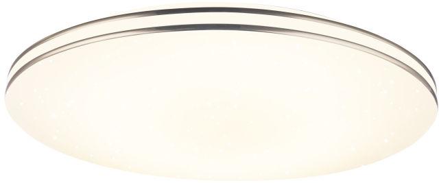 Globo PIERRE 48388-24 plafon lampa sufitowa biała chrom LED 24W 3000K 37cm