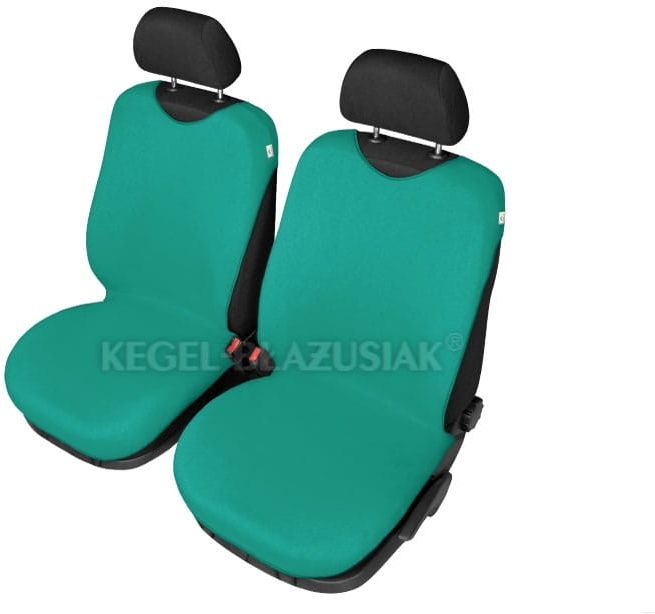 Pokrowce koszulki SHIRT COTTON na przednie fotele, zielone