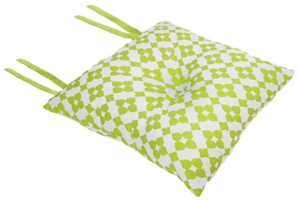 Poduszka na krzesło Silla Geometric zielona 40 x 40 x 8 cm