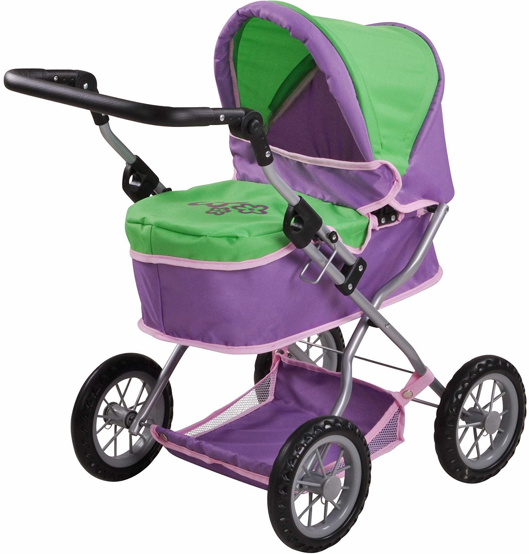 Knorrtoys 63432 - wózek dla lalek First - Plum and Green