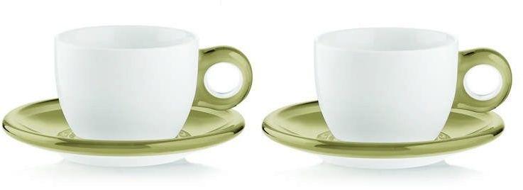 Guzzini - gocce - kpl. 2 filiżanek do cappuccino, piaskowe