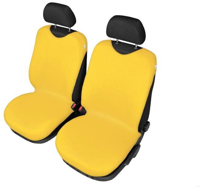 Pokrowce koszulki SHIRT COTTON na przednie fotele, żółte