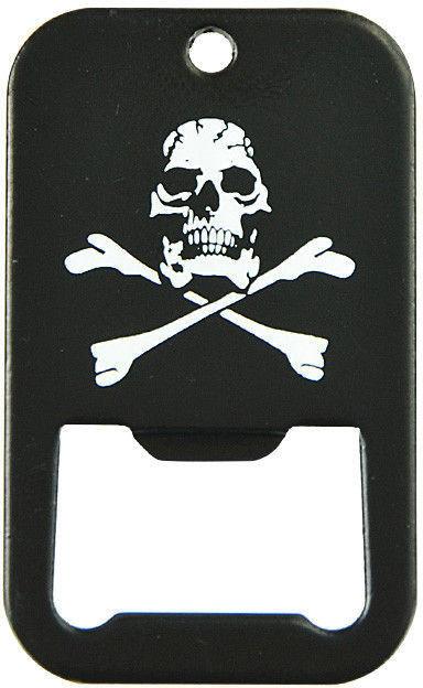 Mil-Tec Otwieracz Nieśmiertelnik Czarny Skull