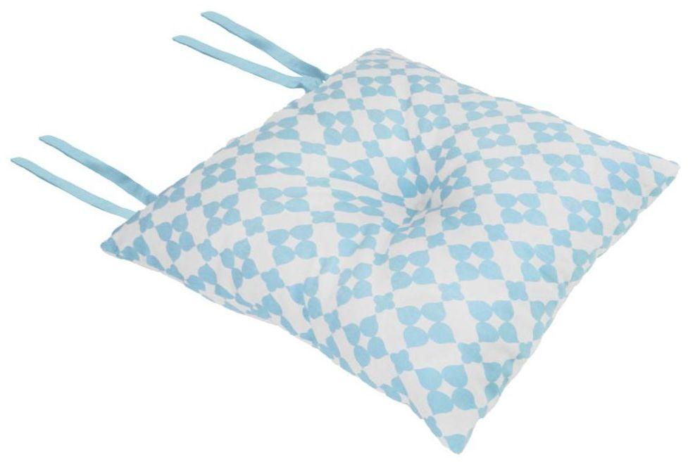 Poduszka na krzesło Silla Geometric niebieska 40 x 40 x 8 cm