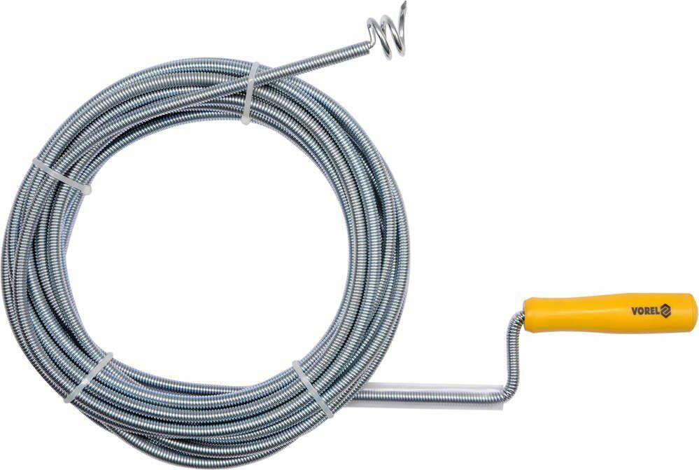 Spirala kanalizacyjna śr. 9mm dł. 10m Vorel 55545 - ZYSKAJ RABAT 30 ZŁ