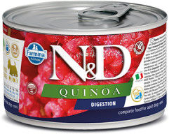 N&D DOG QUINOA DIGESTION ADULT MINI 140G