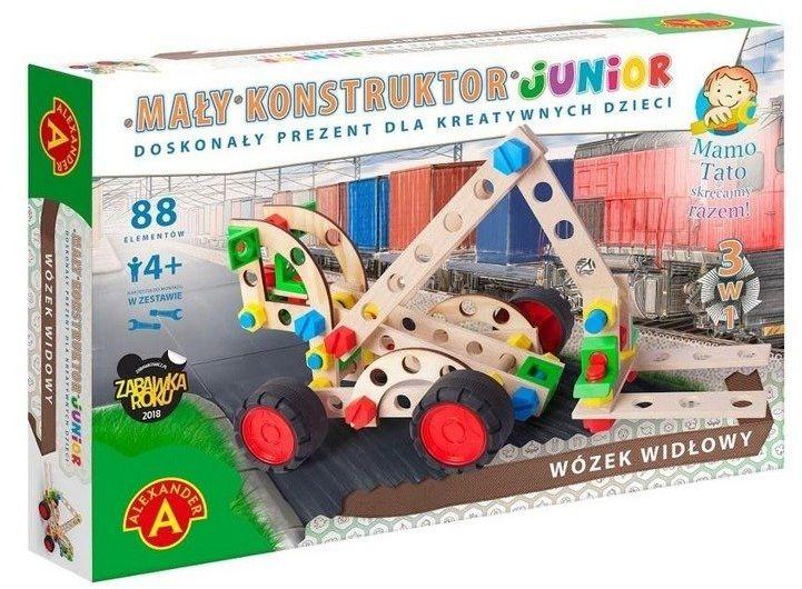 Mały Konstruktor Junior 3w1 - Wózek Widłowy ALEX - Alexander