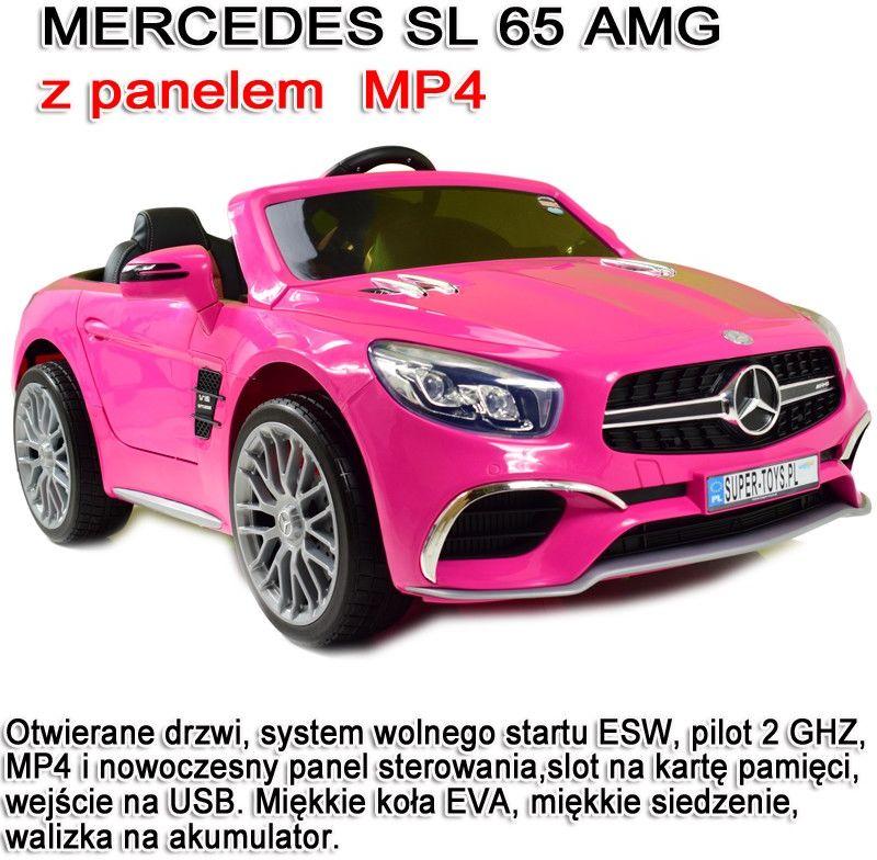 MERCEDES SL65 AMG PILOT, WOLNY START, WALIZKA DO AKUMULATORA , MP4 /XMX602