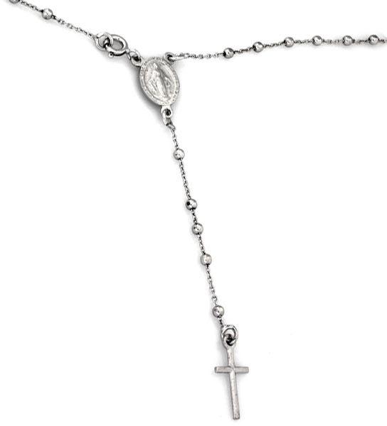 Srebrny naszyjnik 925 różaniec z krzyżykiem 6,01g