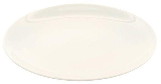 Talerz płytki porcelanowy bez rantu CREMA