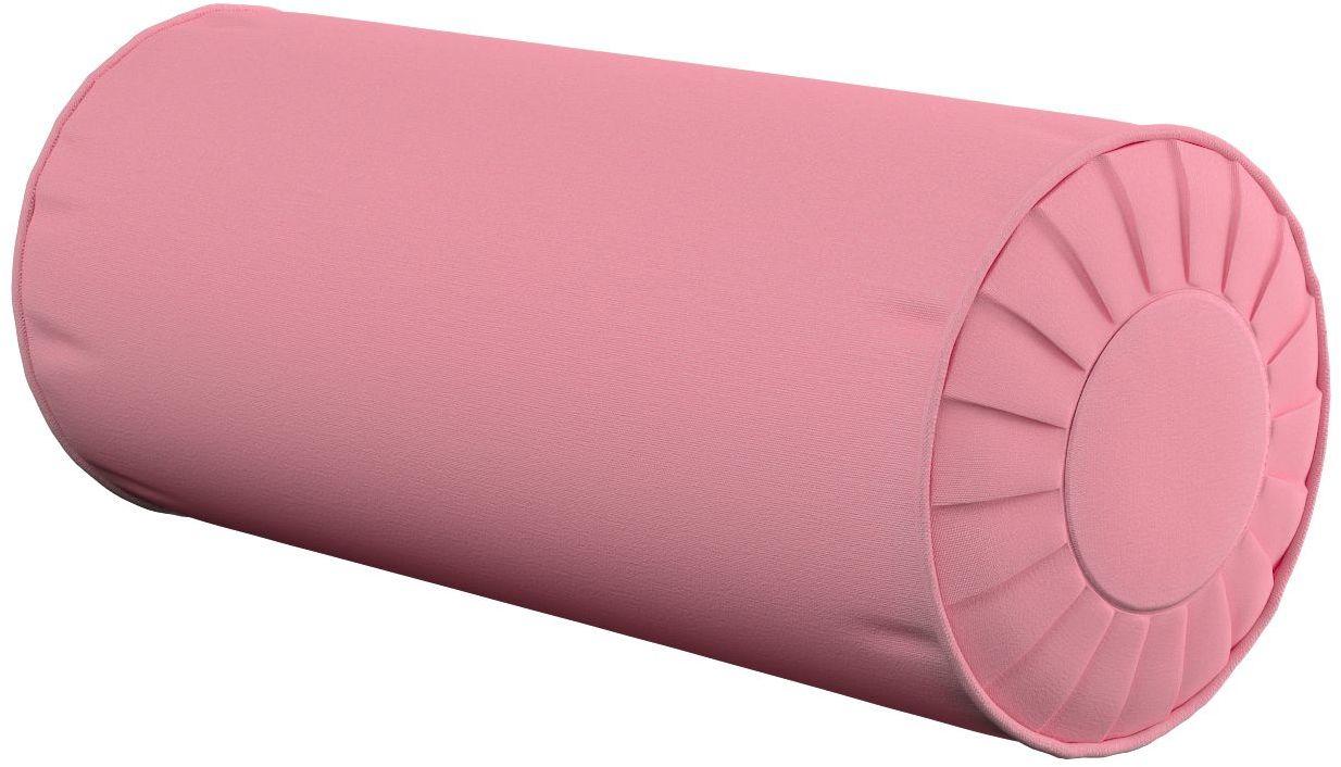Poduszka wałek z zakładkami, brudny róż, Ø20  50 cm, Loneta
