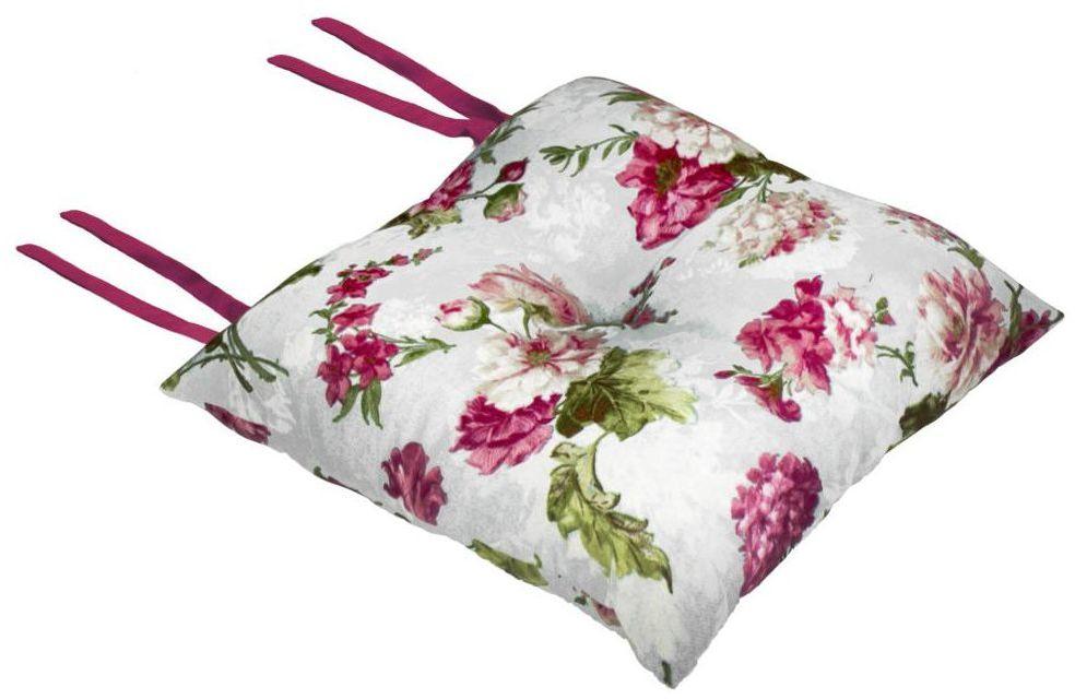 Poduszka na krzesło Silla Elena różowa 40 x 40 x 8 cm
