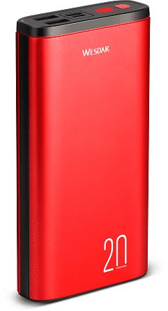 Powerbank 20000mAh 2x USB 1x Micro USB TYP-C LED M555024