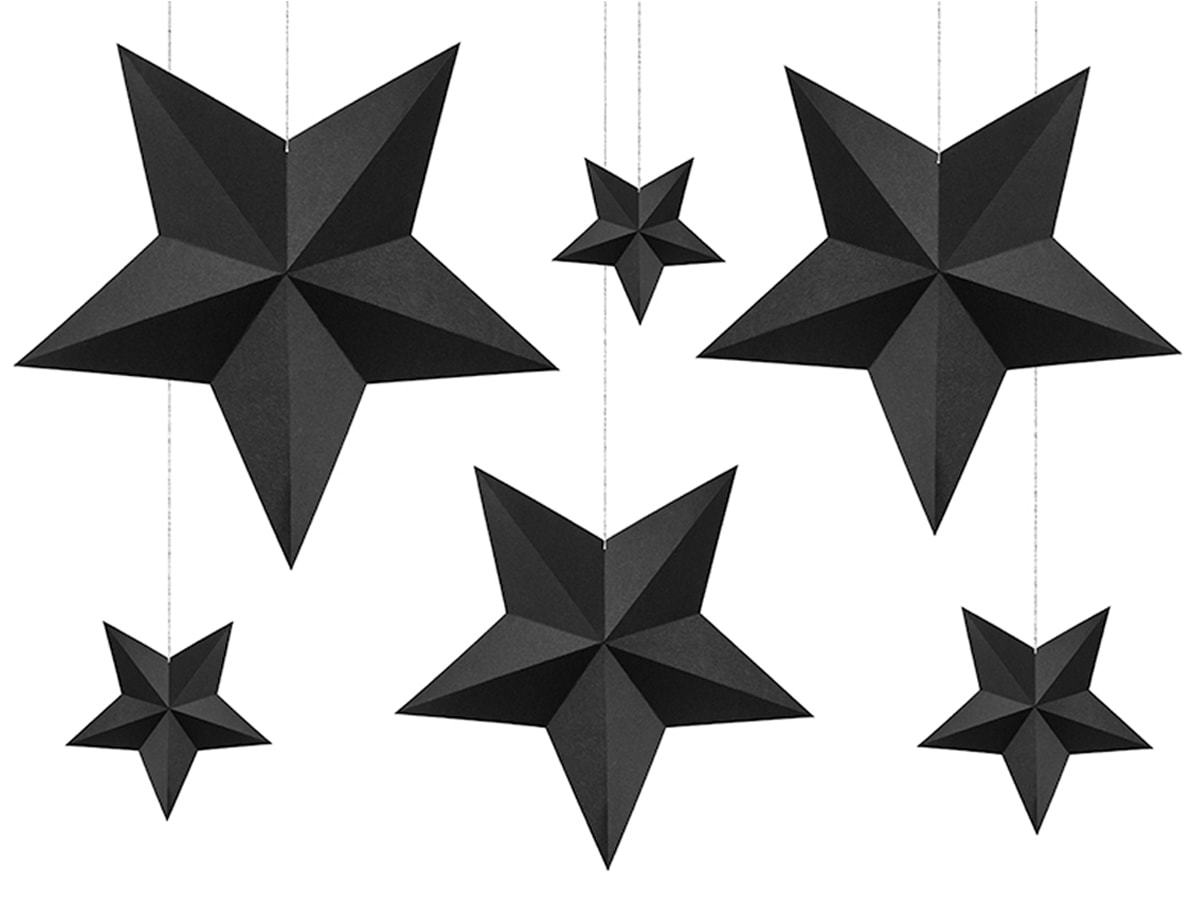 Dekoracja wisząca Gwiazdy - 6 szt.