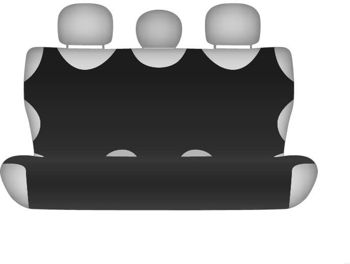 Pokrowiec koszulka COTTON na tylną kanapę, czarna