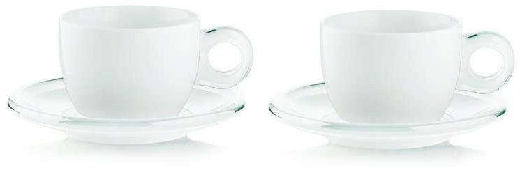 Guzzini - gocce - kpl. 2 filiżanek do cappuccino, biały