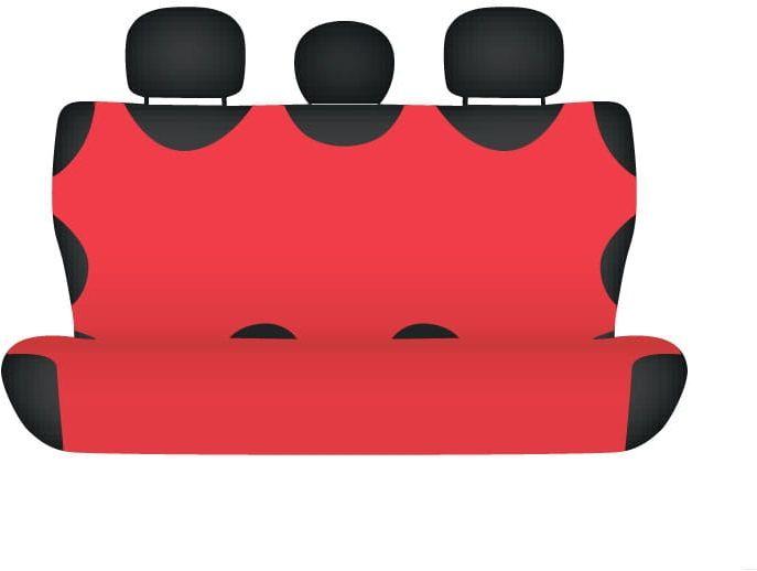 Pokrowiec koszulka COTTON na tylną kanapę, czerwona