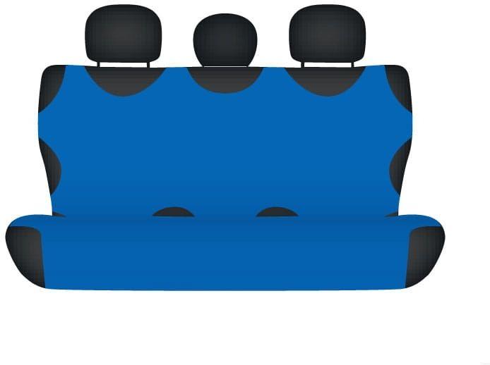 Pokrowiec koszulka COTTON na tylną kanapę, niebieska