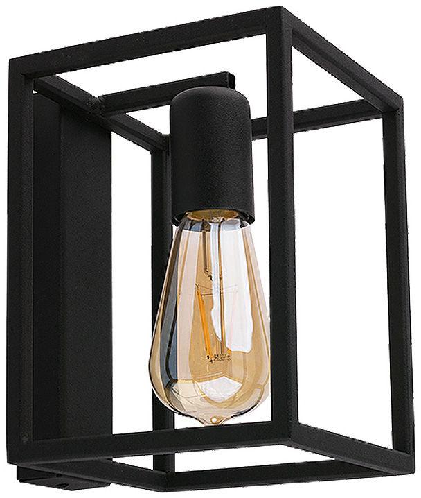 Kinkiet Crate 9046 Nowodvorski Lighting czarna geometryczna oprawa w stylu loft