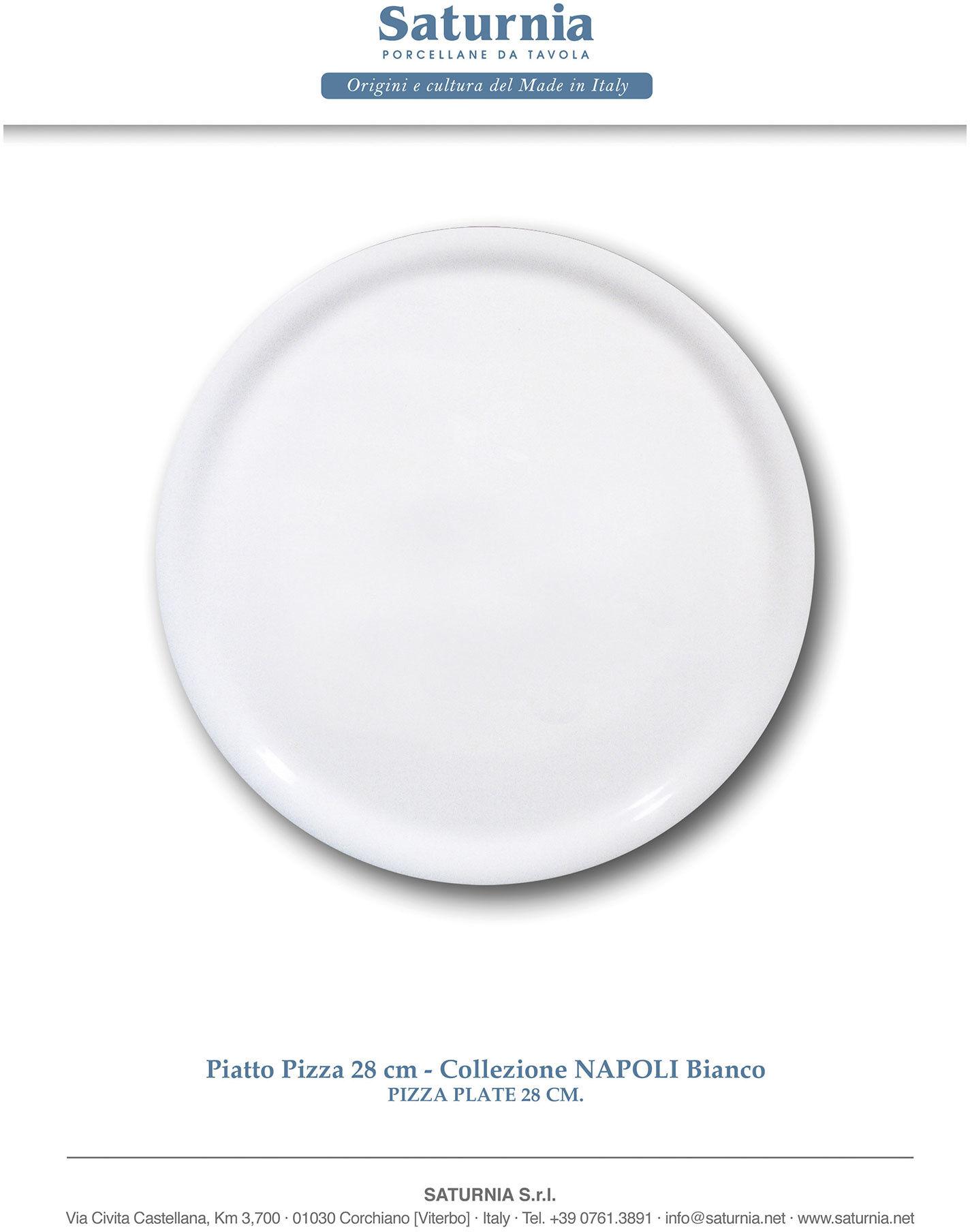 Hendi Talerz do pizzy Speciale porcelanowy biały 280 mm - kod XXLHENFFC05H1