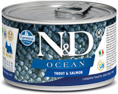 N&D DOG OCEAN TROUT SALMON ADULT MINI 140G